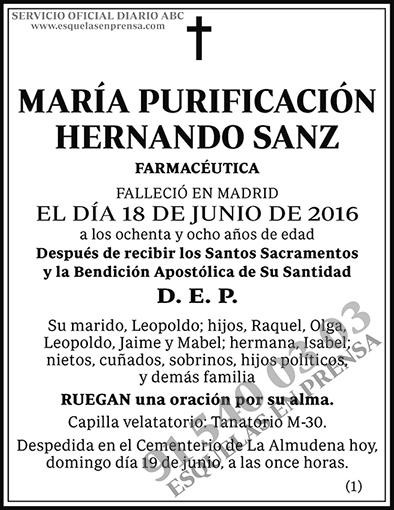 María Purificación Hernando Sanz